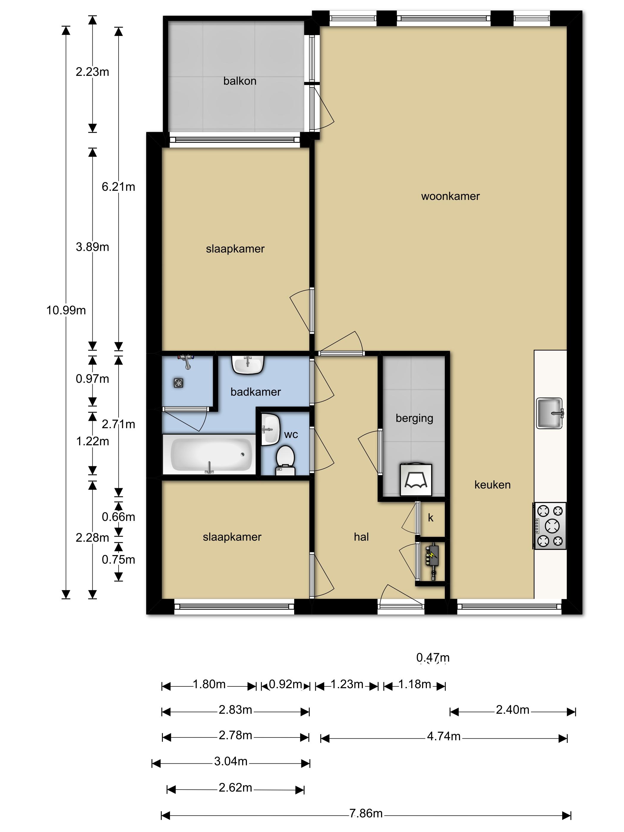 Te koop voormeer 82 alkmaar pinedo makelaardij for Plattegrond woning